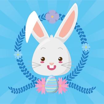 Simpatico cartone animato faccia di coniglio