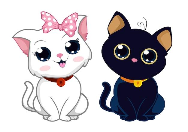 Simpatico cartone animato gatto