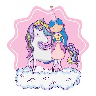 Simpatico cartone animato principessa magica