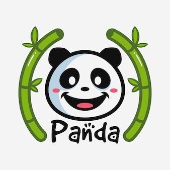 Simpatico cartone animato testa di panda