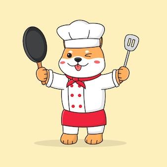 Simpatico chef shiba inu