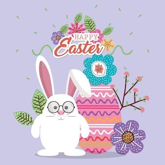 Simpatico coniglio buona pasqua card