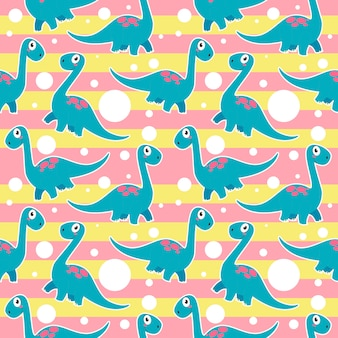 Simpatico dinosauro brontosauro modello senza soluzione di continuità