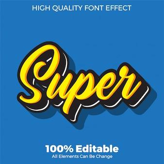 Simpatico effetto carattere modificabile in stile testo giallo