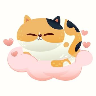 Simpatico gatto amore