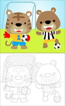 Simpatico giocatore di calcio di animali