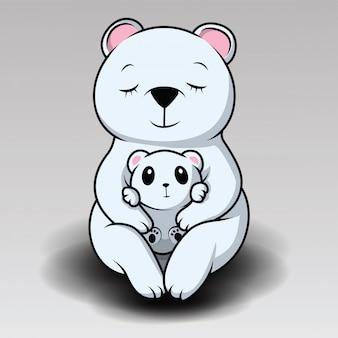 Simpatico orso polare sta ridendo