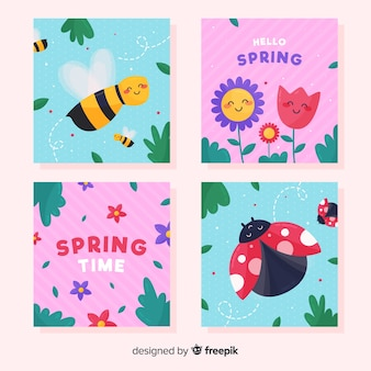 Simpatico pacchetto di carte primaverili