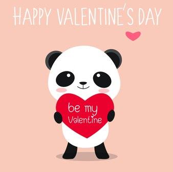 Simpatico panda innamorato