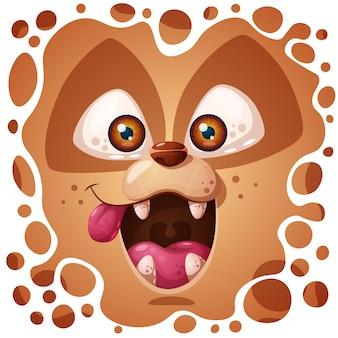 Simpatico personaggio cane pazzo