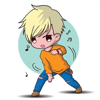 Simpatico personaggio dei cartoni animati ballerino