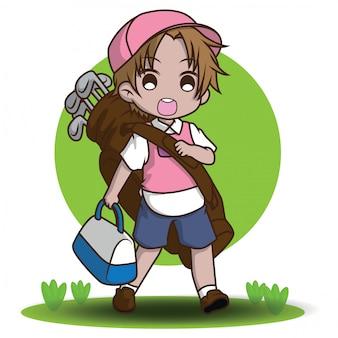 Simpatico personaggio dei cartoni animati caddy