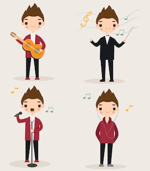 Simpatico personaggio dei cartoni animati del musicista