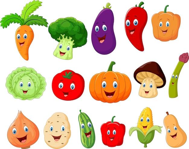Simpatico personaggio dei cartoni animati di verdure