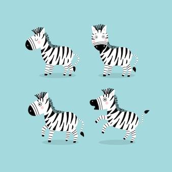Simpatico personaggio dei cartoni animati di zebra.
