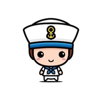 Simpatico personaggio dei marinai