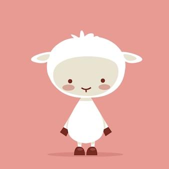 Simpatico personaggio di agnello