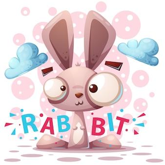 Simpatico personaggio di coniglio
