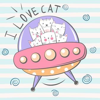 Simpatico personaggio di gatto