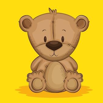 Simpatico personaggio di orsacchiotto