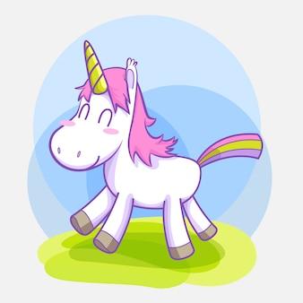 Simpatico set di adesivi per unicorno