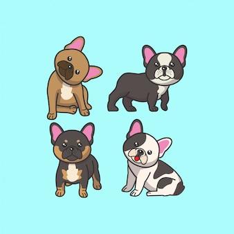 Simpatico set di bulldog francese