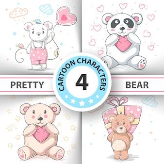 Simpatico set di orsacchiotti
