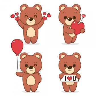 Simpatico set di orsi