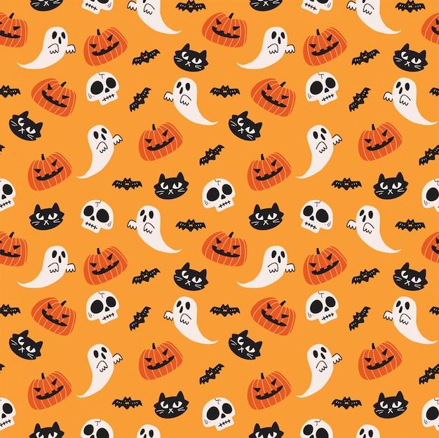 Simpatico sfondo di halloween senza soluzione di continuità