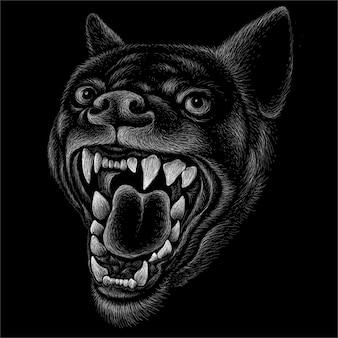 Simpatico stile di stampa cane o lupo sfondo.