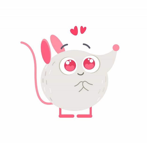 Simpatico topolino innamorato