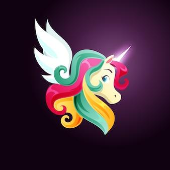 Simpatico unicorno magico