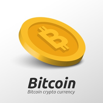 Singole icone dorate bitcoin.