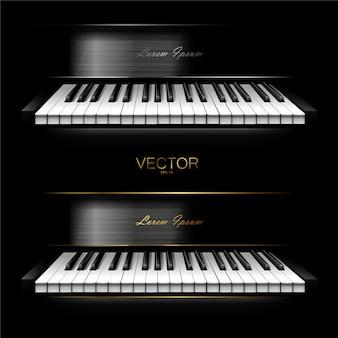 Sintetizzatore virtuale realistico per studi di registrazione. pianoforte. .
