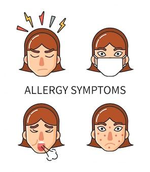Sintomi di allergia, ipersensibilità dell'organismo