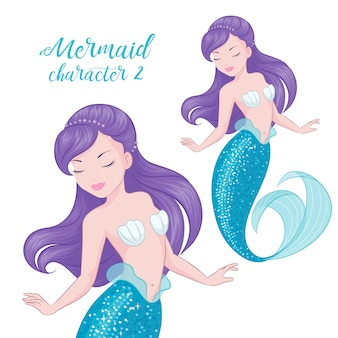 Sirena dai capelli viola.