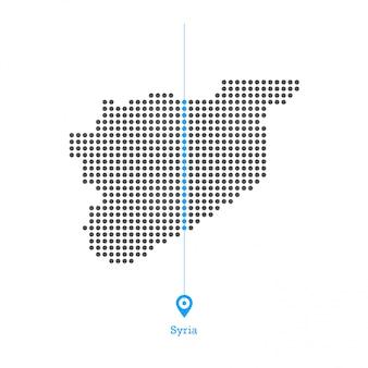 Siria doted vector map desgin