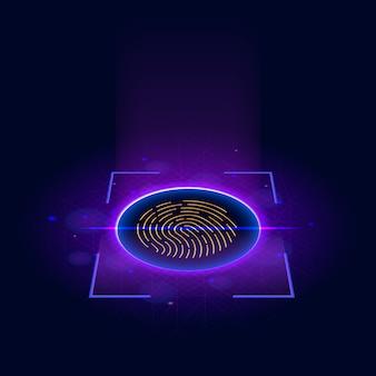 Sistema di identificazione di scansione delle impronte digitali
