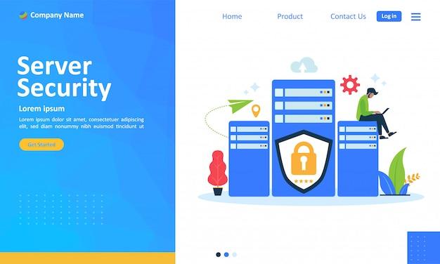 Sistema di sicurezza del server per la pagina di destinazione del web