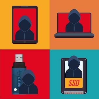 Sistema di sicurezza informatica e design dei media