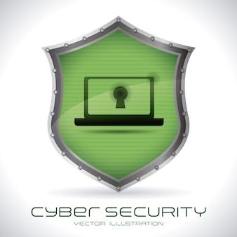 Sistema di sicurezza su sfondo grigio illustrazione vettoriale