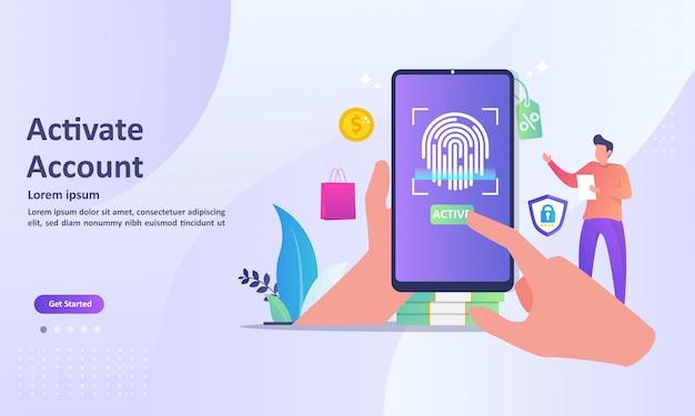 Sistema di sicurezza tecnologia di riconoscimento delle impronte digitali