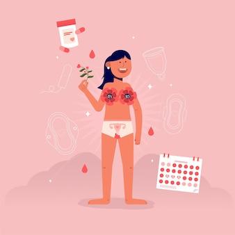 Sistema riproduttivo femminile con la donna