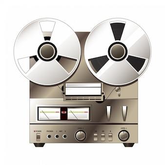 Sistema stereo isolato su bianco