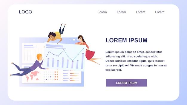 Sito web di lavoro di squadra di analisi dei dati aziendali grath