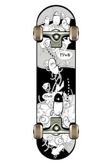 Skate con disegno graffiti
