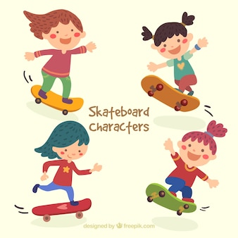 Skater girl illustrazione