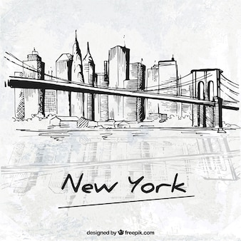 Skyline di new york foto e vettori gratis for Disegni new york