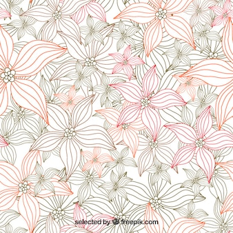 Sketchy sfondo floreale