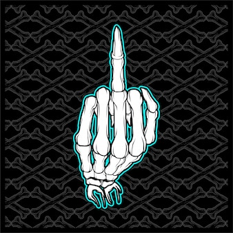Skull fuck finger hand